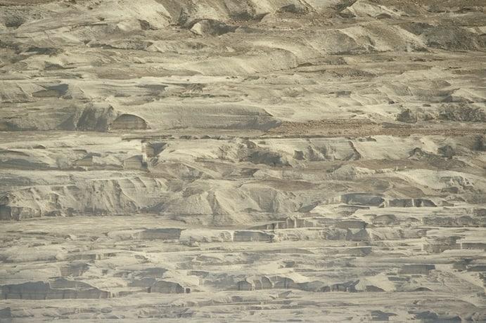 The ridges that rim the Dead Sea.