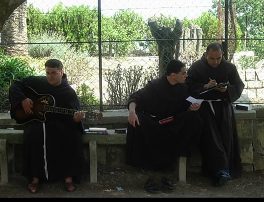 Franciscan monks on Mt. Tabor