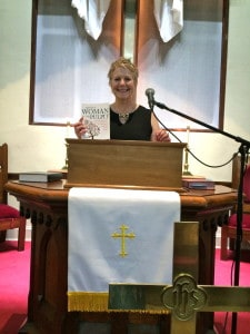 "There's a woman in the pulpit with ""There's a Woman in the Pulpit."" Only it's not her pulpit, she's only filling in for another clergywoman!"